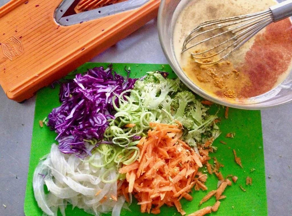 frittelle vegetali salsa vegan