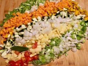 ingredienti per fare il dado vegetale per brodi e minestre