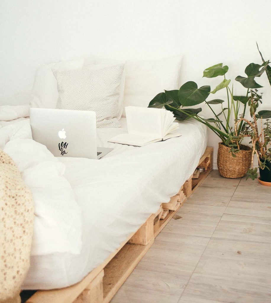 letto in pallet bancale