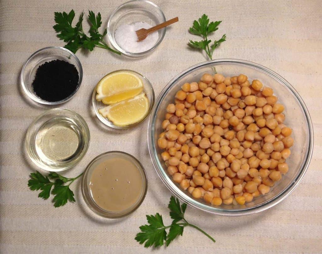 preparazione hummus ceci