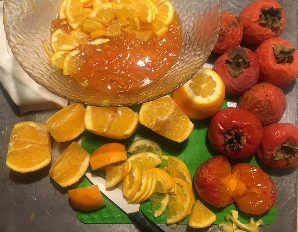 ricetta marmellata cachi arance
